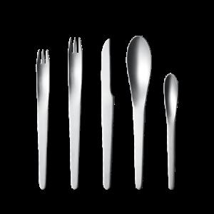 Arne Jacobsen Aterinsetti 5 osaa Ruostumaton Teräs