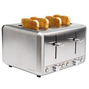 Leivänpaahdin 4 viipaletta ruostumaton