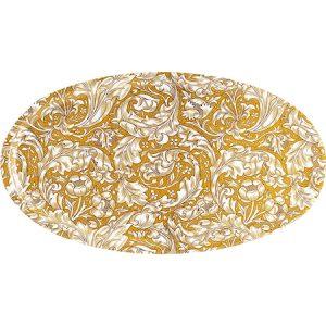 Bachelor´s Button Tarjotin Ovaali 50 x 28 cm Keltainen