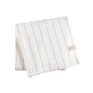 Pöytäliina sahramiraidoilla Valkoinen 140x300 cm
